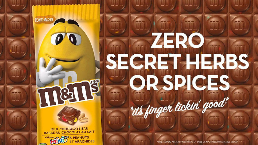 M&M's zero secret herbs or spices