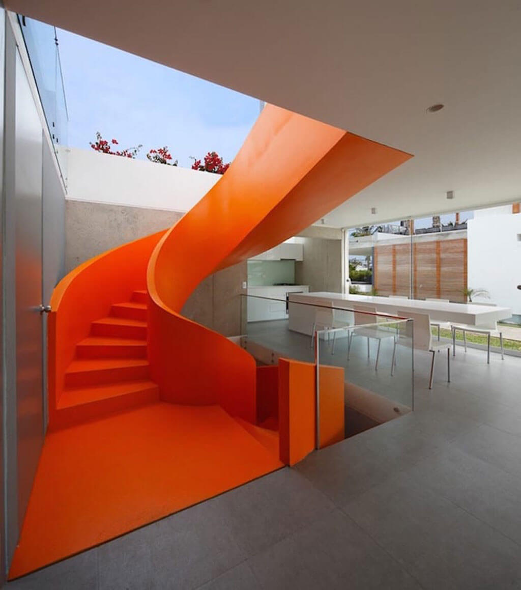 Staircases that use colour