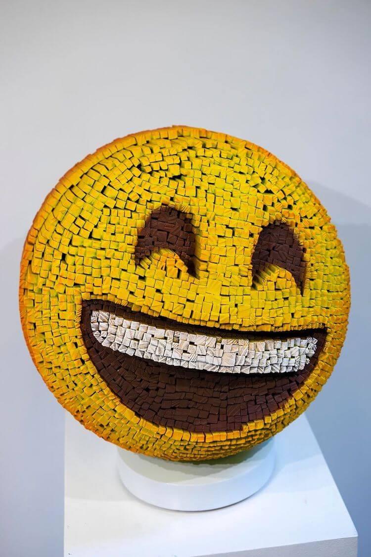 Emoji sculpture
