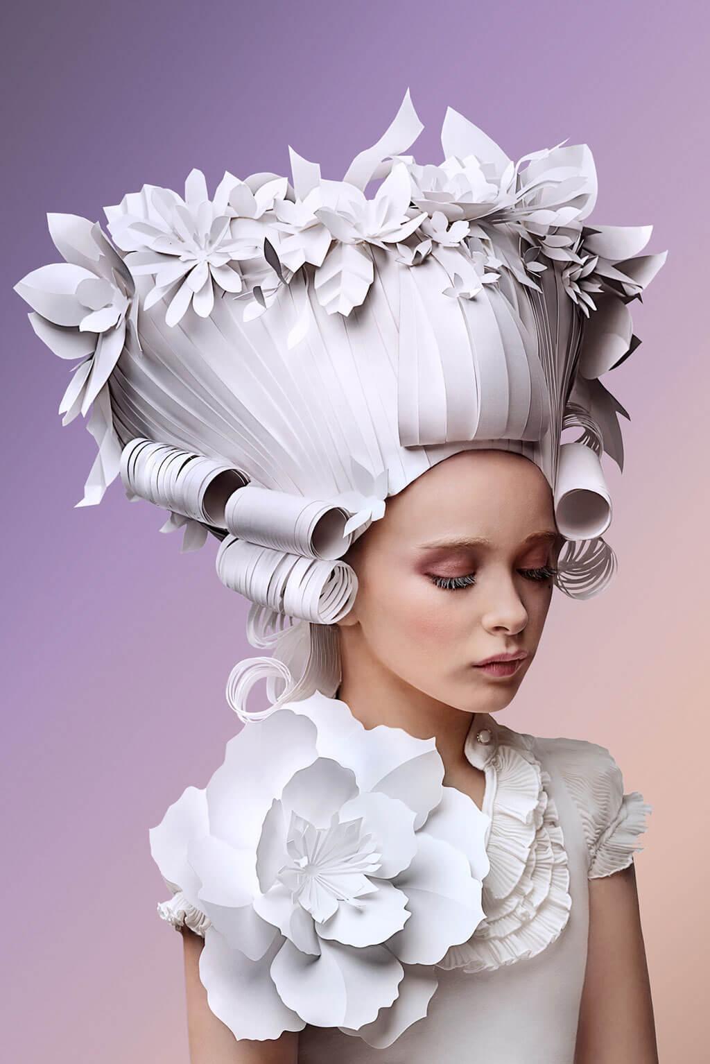 Asya Kozina and Dmitriy Kozin paper fashion