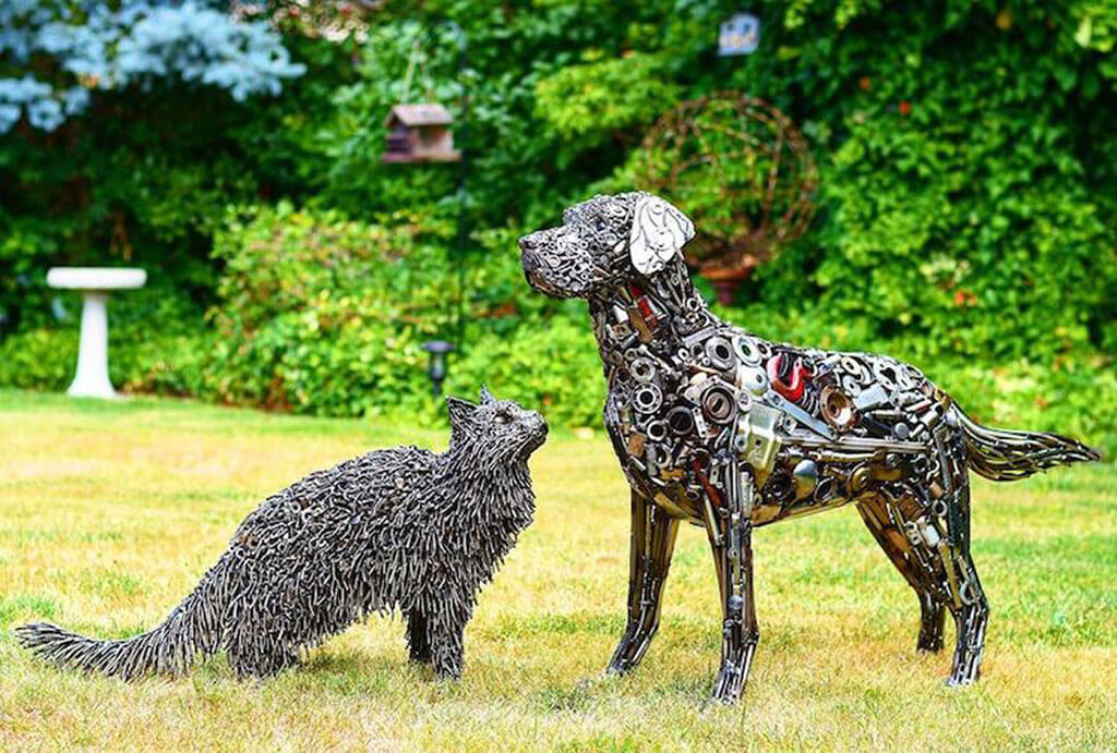 Brian Mock animal sculptures