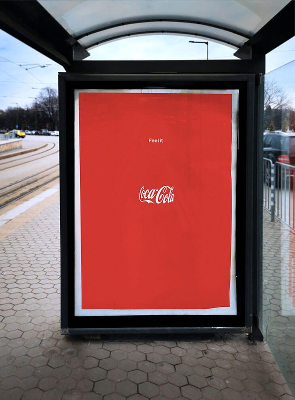 Coke uses optical illusion to get you to see its bottle