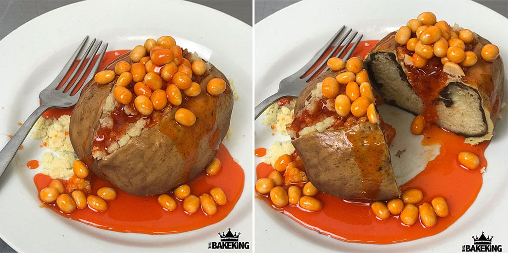 Pork and beans confection optical illusion