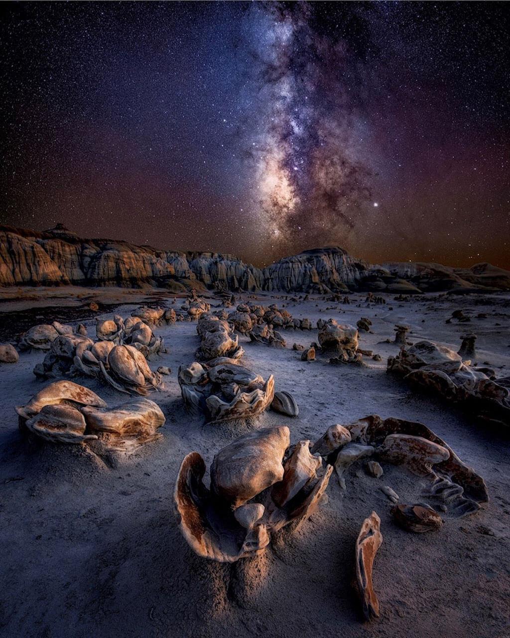 Milky Way photo from the Badlands of New Mexico