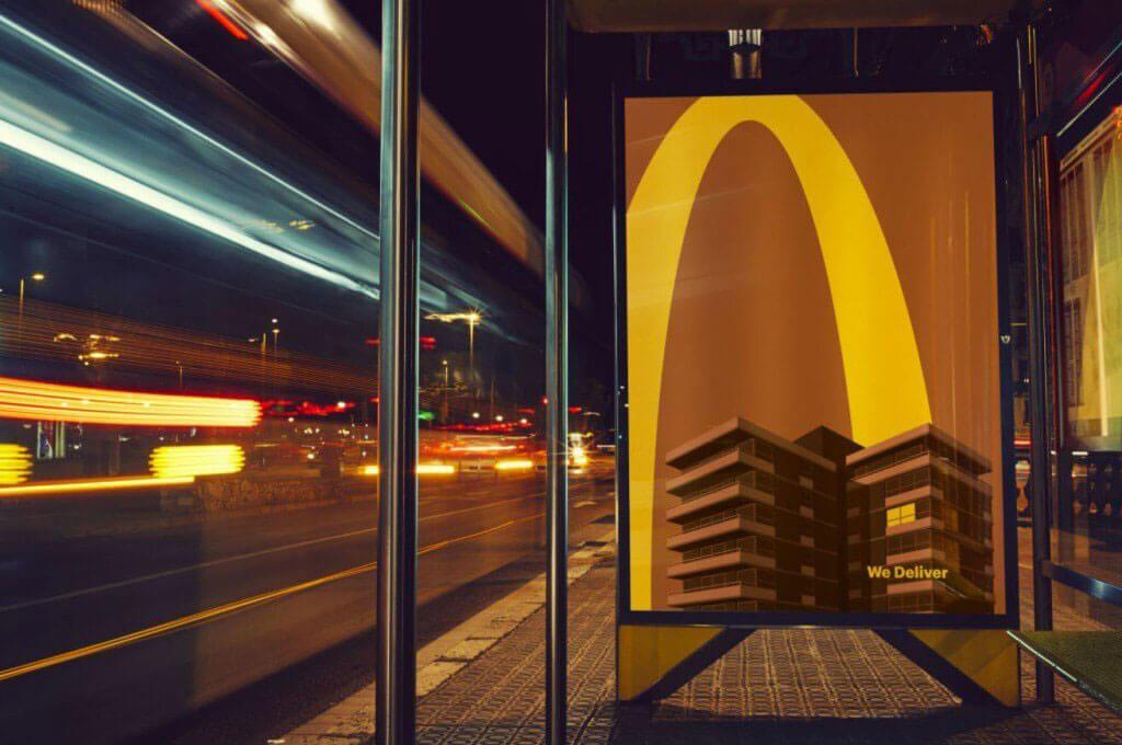 Minimalist billboard campaign