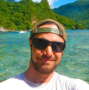 Dan's selfie near Afono, American Samoa