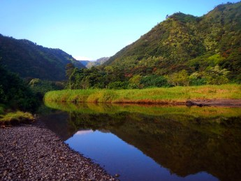 Honomanu Valley, a pristine research location on Maui