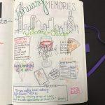 January 2017 Memories Bullet Journal