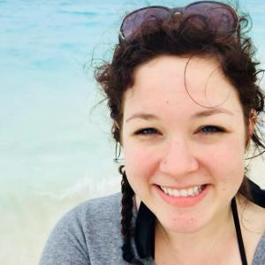Danielle at the beach, Jan. 2018