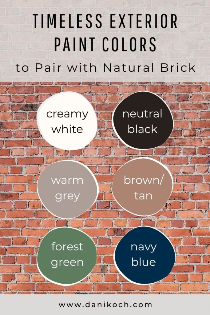 How To Choose Exterior Paint Colors For A Brick Home Dani Koch