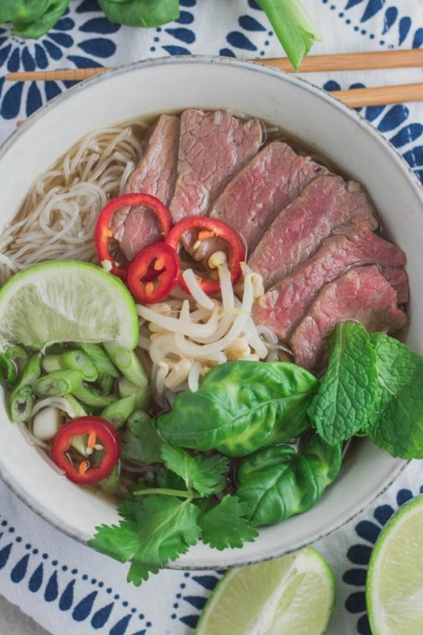 Healthy Beef Pho - Danilicious
