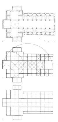 Plantas e esquemas de proporções