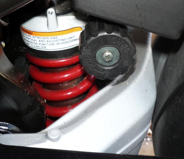 Rear Shock adjustment