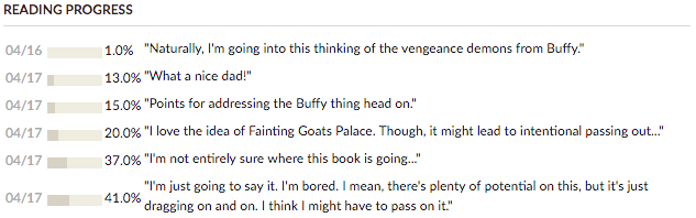 Vengeance Be Mine goodreads updates