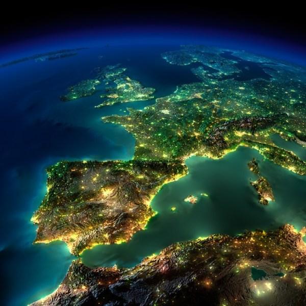 Luces nocturnas desde el espacio