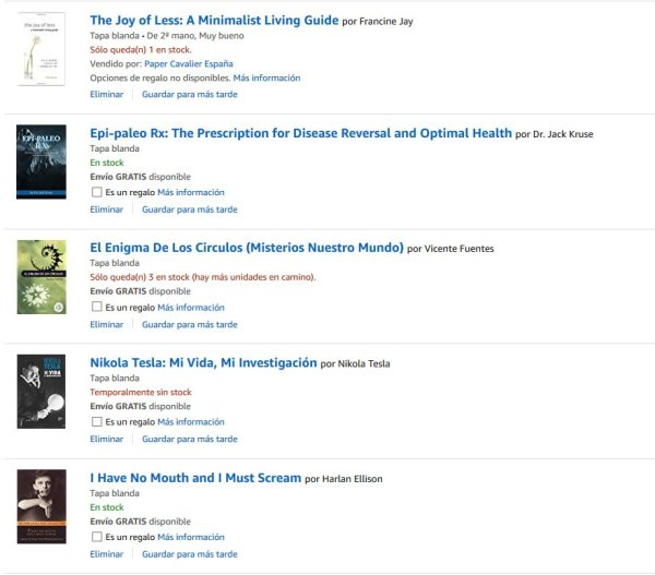 Libros baratos en Amazon, los mejores precios de España