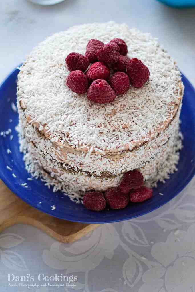 Coconut Cake with Raspberry Frosting | Dani's Cookings