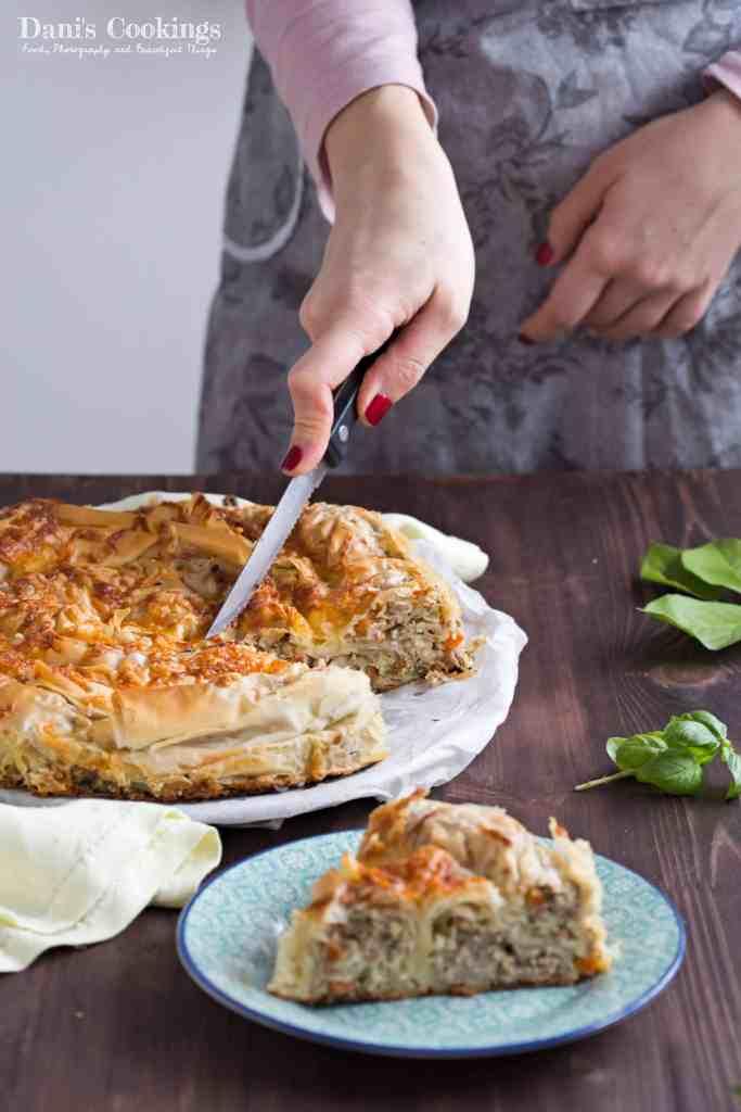 Meat and Leek Filo Pie | Dani's Cookings