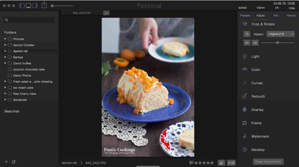 Photo Editing Tutorial - Editing food photography in Picktorial