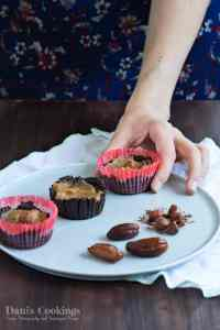 Healthy Chocolate Caramel Cups
