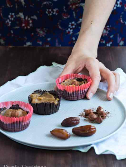 Healthy Chocolate Caramel Cups