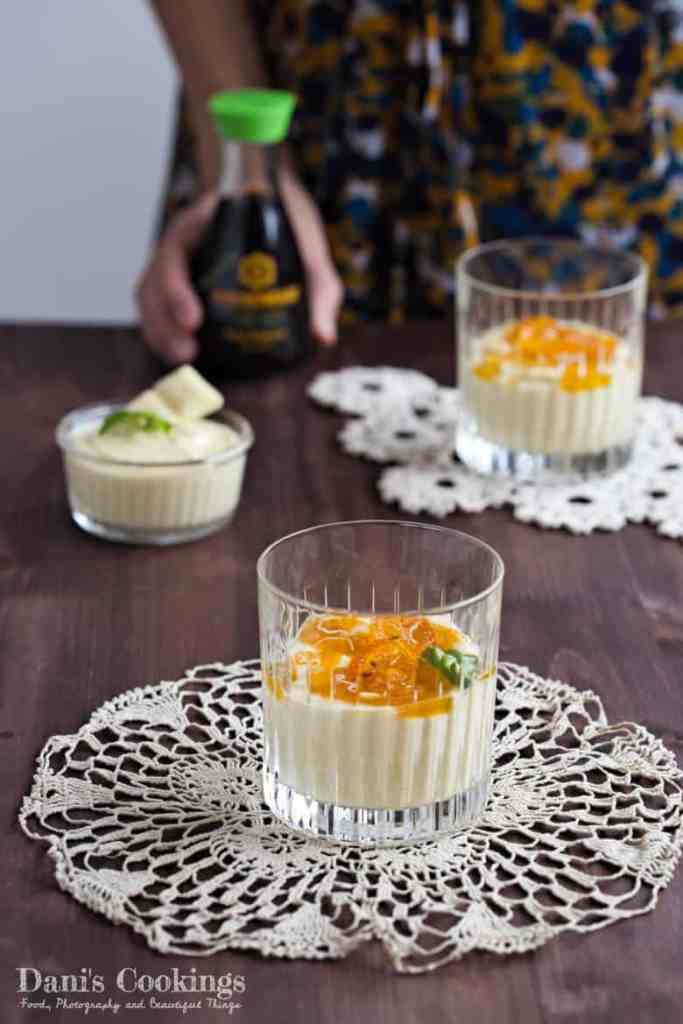 Mango White Chocolate Mousse with Soy Sauce