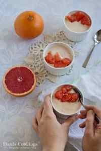 This Coconut Grapefruit Dessert with greek yogurt and white chocolate is ridiculously easy! I think it is one of the simplest recipes I ever made.