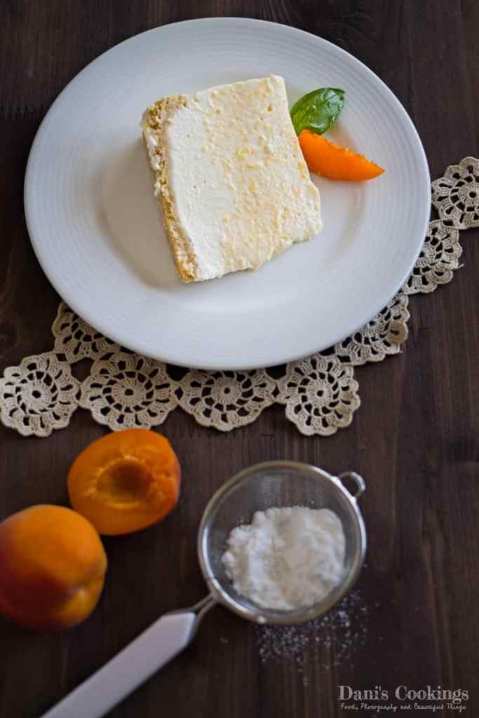 No Bake Cheesecake with Canned Apricots