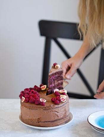 Delicious Chocolate Cake with Raspberry Filling