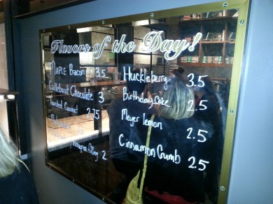 SIdecar doughnuts flavors of the day & prices