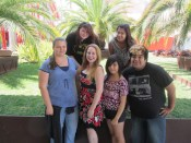 Dani & Her Students At Los Angeles County Museum Of Art After Enjoying A Patina Group Lunch