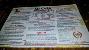 Menu - Mi Casa Mexican Restaurant Costa Mesa