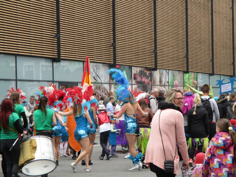 Samba dancers in the Carnival in Aalborg