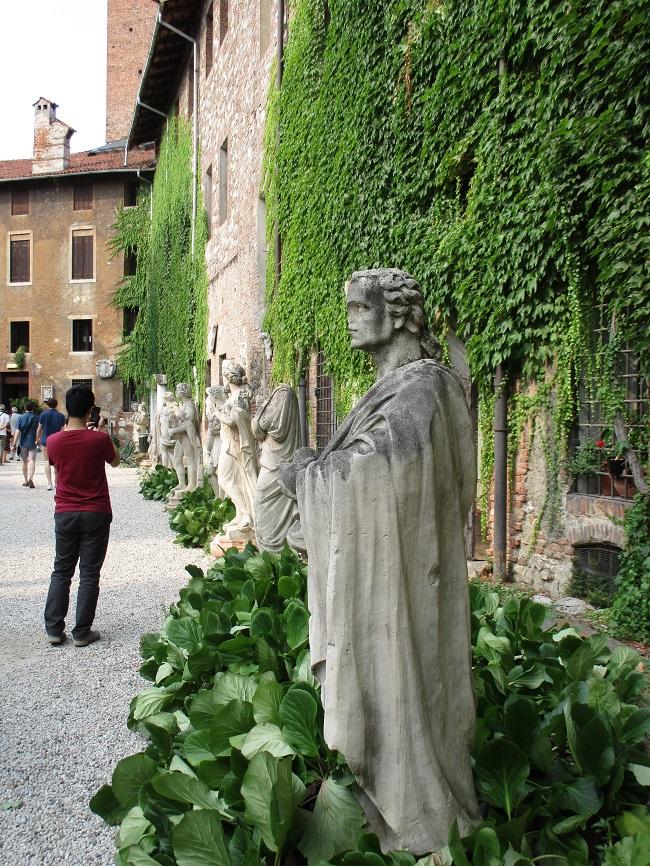 The courtyard of the Teatro Olimpiko, Vicenza