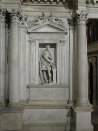 One of the many statues that surround the stage area of the Teatro Olimpico, Vicenza