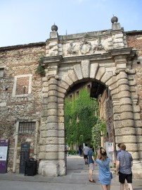 Entrance to the Teatro Olimpico in Vicenza