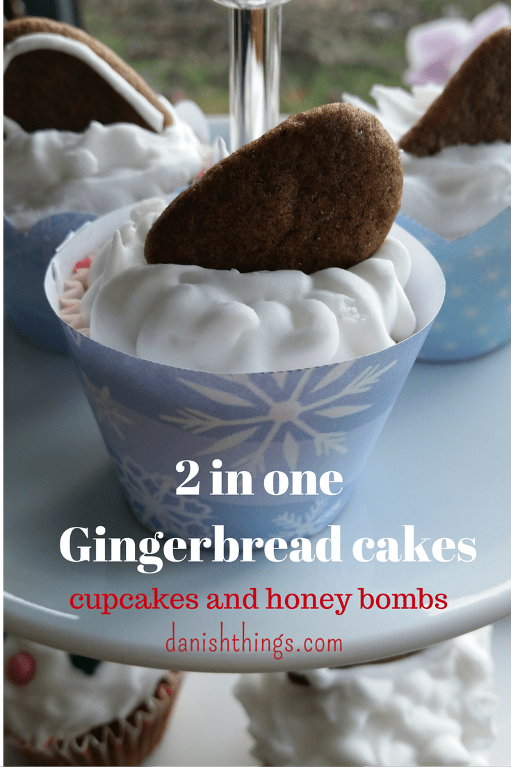 2 in one Gingerbread cakes - cupcakes and honey bombs @danishthings.com