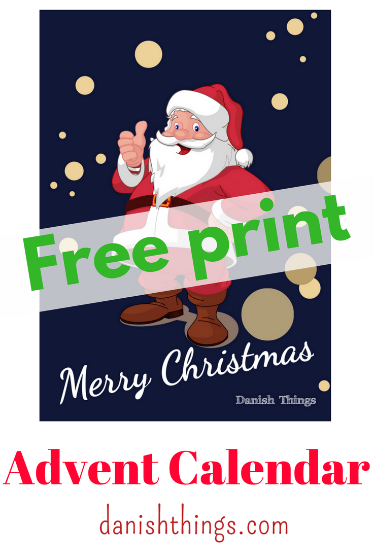 Christmas Poster with Santa Claus @ danishthings.com