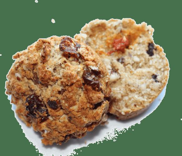 Grove scones med frugt og nødder - grahams scones © danishthings.com