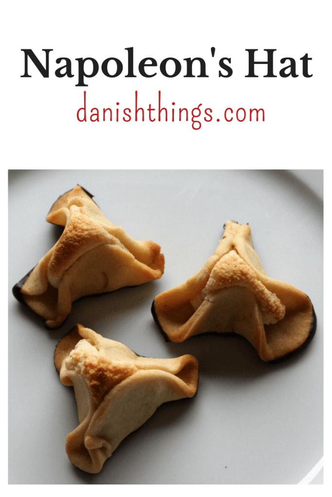 Napoleon's hat - a classic Danish shortbread cake shaped like a triangular hat filled with marzipan - find the recipe at danishthings.com © Christel Danish Things