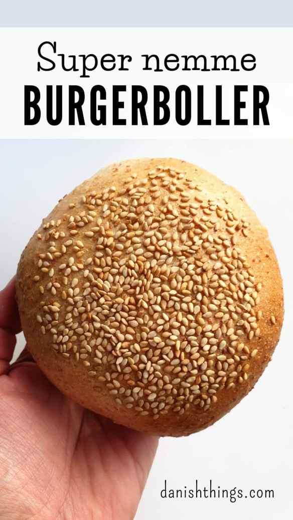 Sådan laver du super nemme burgerboller - bløde og fine hjemmelavede burgerboller, som også er velegnede til sandwich eller almindelige boller. Find opskrifter, gratis print og inspiration til årets gang på danishthings.com #DanishThings #burgerboller #super-nemme-burgerboller #nemme-burgerboller #boller