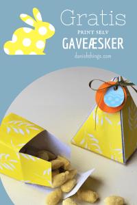 Påskeæsker - gule æsker til påske - find gratis print, opskrifter og inspiration til påske og årets gang på danishthings.com