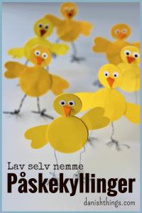 Nem pynt til påske. Find inspiration og print til super nemme påskekyllinger, som du kan lave sammen med børn. Lav selv de nemmeste påskekyllinger - find gratis print, opskrifter og mere inspiration til påske på danishthings.com