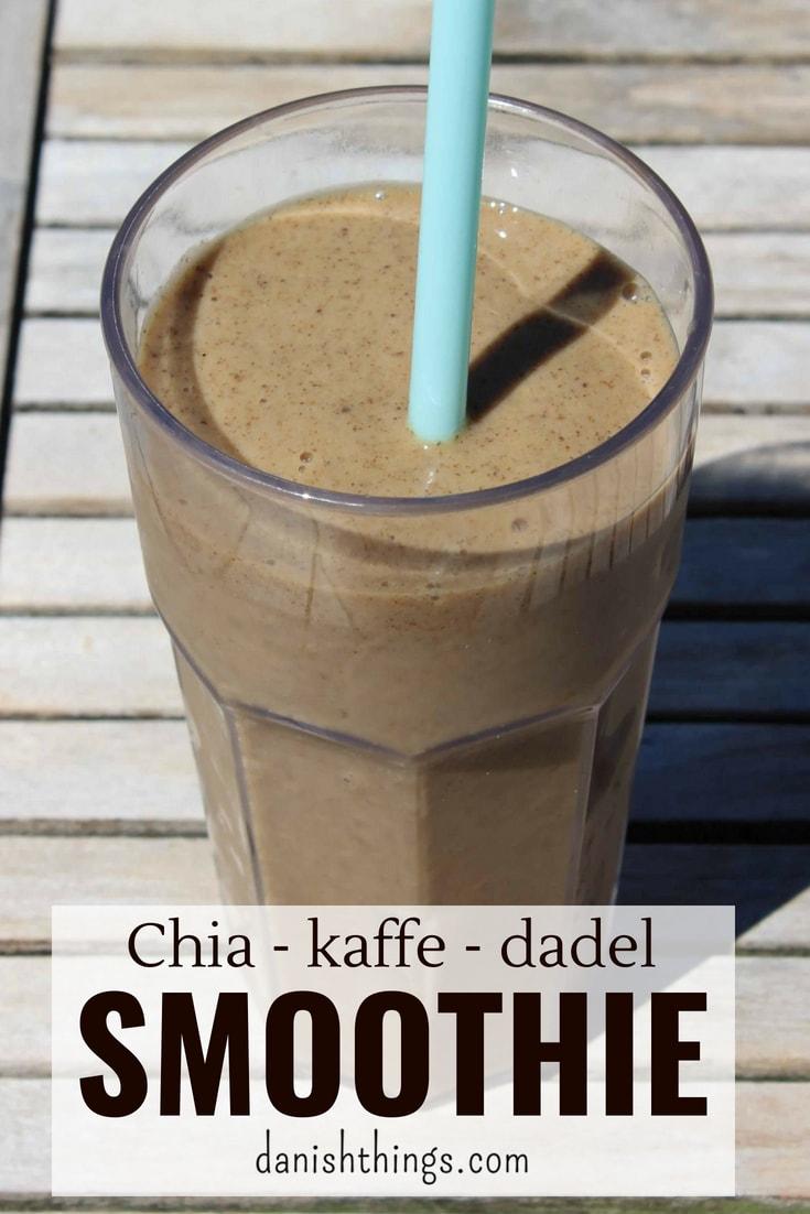 Jeg har fundet opskriften på den bedste chia-kaffesmoothie, eller smoothie bowl, sødet med dadler. Om morgen laver du en velsmagende morgenkaffe smoothie eller smoothie bowl med lækker topping - en morgenmad du også kan ta' med. Du kan også lave smoothien som snack eller som en sundere dessert. Nyd den med god samvittighed, for chia-kaffesmoothien er fyldt med gode sager. Find opskriften på danishthings.com