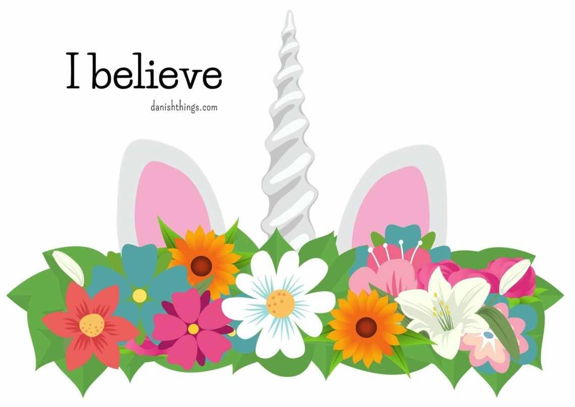Enhjørning - udklædning. Lav hovedpynt til din enhjørning - 3 forskellige slags. Unicorn – costume. Make a head piece for your unicorn - 3 different styles. Danish Things @ danishthings.com #enhjørning #udklædning #plakat #dekoration #kort #fastelavn #halloween #costume #poster #decoration #card