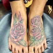 a pretty pair of feet roses