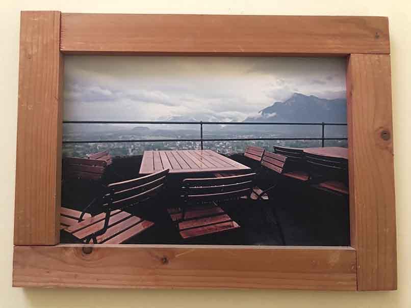 """תמונה עם מסגרת עץ מק""""ט: 1519"""