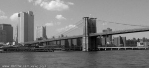 """תמונות יפות למכירה צילום נוף עירוני, שחור לבן, גשרים, ניו יורק, ארה""""ב 2195"""