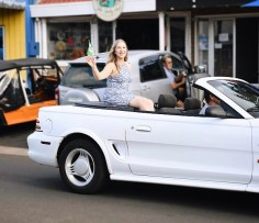 Feeling a bit like the Queen of England in this picture! First time riding on the back of a convertible for the Norfolk Island street parade
