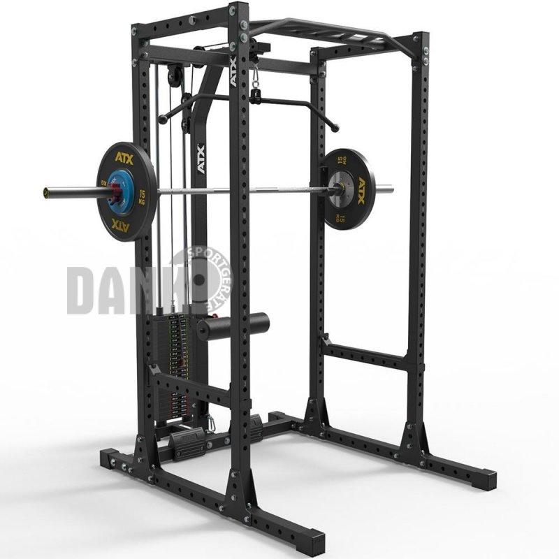 atx power rack komplettstation 650 mit latzugstation steckgewichte